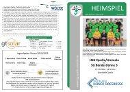 HEIMSPIEL Hallenheft Nr. 3 Saison 2012/2013 - HSG Quelle ...