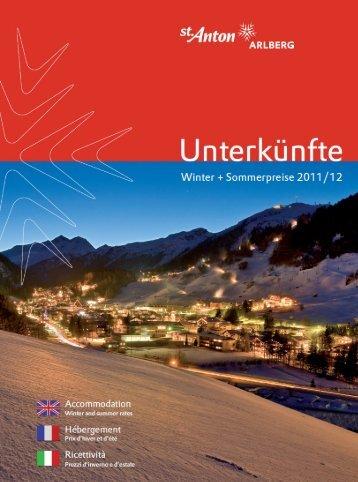 St. Anton am Arlberg - Gastgeberkatalog Winter/Sommer (2011/2012)