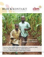 Blickkontakt 1/2013 - Christoffel-Blindenmission