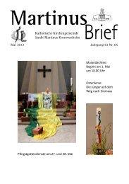 Martinus Brief - Katholische Kirchengemeinde St. Martin in ...