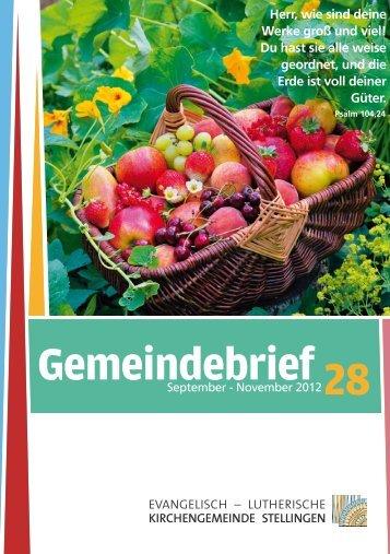 Gemeindebrief 19 Gemeindebrief 28