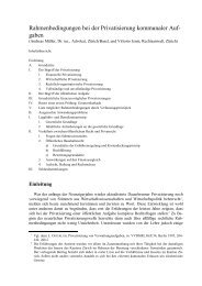 Rahmenbedingungen bei der Privatisierung ... - Kanton Zürich