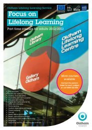 Focus on Lifelong Learning - Oldham Council