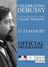 Claude Debussy - Alliance Francaise Wellington