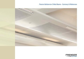 Passive Multiservice Chilled Beams - Frenger Systems Ltd