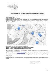 Schulbroschüre - Sekundarschule Liestal