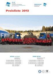 Preisliste IFF AG_2013
