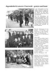 Jugendarbeit in unserer Feuerwehr - gestern und heute