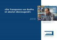 «die Transparenz von Buspro ist absolut überzeugend!» - Buspro AG