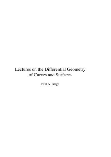 Blaga P. Lectures on the differential geometry of - tiera.ru
