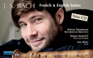 J. S. BACH French & English Suites - Temmingh, Stefan