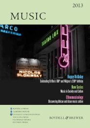 Download the 2013 Music Catalogue - University of Rochester Press