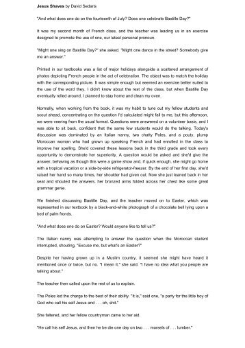 Essay On Health Awareness  Me Talk Pretty One Day By By David Sedaris Summary And Reviews  Essay   Thesis In Essay also Public Health Essays Me Talk Pretty One Day Essay Me Talk Pretty One Day By By David  Essay Paper Generator