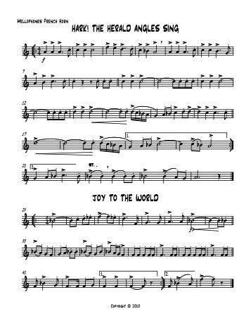 CHRISTMAS MUSIC Mellophones French Horn
