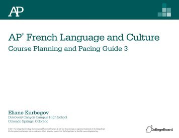 AP® French Language and Culture - AP Central - College Board