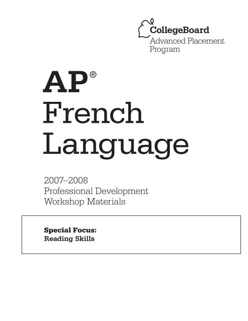 Ap French Language Ap Central College Board