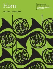 French Horn Syllabus TAP - The Music Development Program
