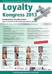 Loyalty Kongress 2013 - Management Forum der Verlagsgruppe ...