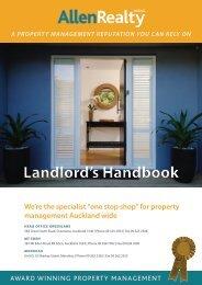 download our Landlord's Handbook - Allen Realty Ltd