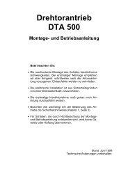 Drehtorantrieb DTA 500 Montage - Langguth Antriebe