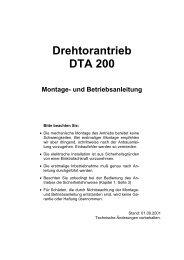 Drehtorantrieb DTA 200 - Langguth  Antriebe