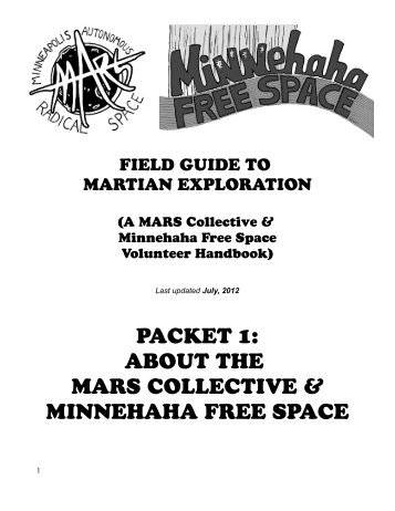 packet 1: about the mars collective & minnehaha ... - Get a Free Blog
