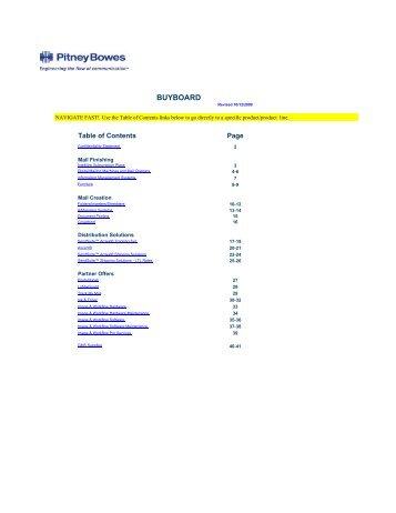 Buyboard PB Catalog Copy 11-1-09 - Pitney Bowes
