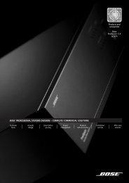 Bose FreeSpace E-4 System - Tech Data Sheet - UK - Professional ...