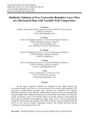 Similarity Solutions of Free Convection Boundary ... - EuroJournals