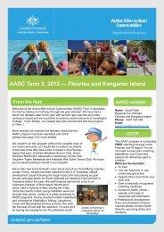 AASC TERM 4 NEWSLETTER - Australian Sports Commission