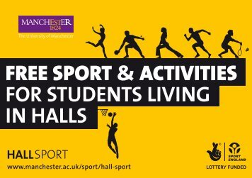 FREE SPORT &ACTIVITIES FOR STUDENTS LIVING IN HALLS