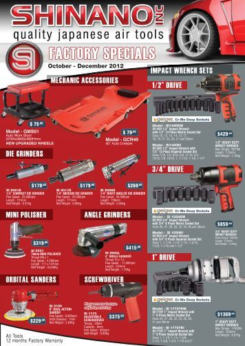 Shinano Brochure Oct December 2012.indd - Boss Compressors
