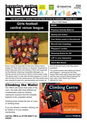 Havering Active News, Spring 2010 edition now available