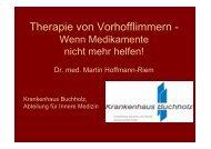 Therapie von Vorhofflimmern - - Krankenhaus Buchholz