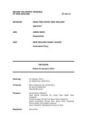 Decision (PDF, 70 KB) - Sports Tribunal of New Zealand