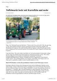 Ostfriesenzeitung vom 15. September 2011 - Tag der Regionen