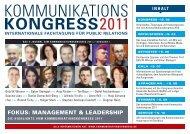 FOKUS: MANAGEMENT & LEADERSHIP - Kommunikationskongress