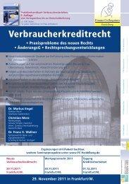 Verbraucherkreditrecht - Finanz Colloquium Heidelberg