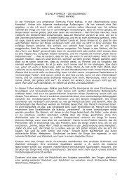 1 WILHELM EMRICH - DIE BILDERWELT FRANZ KAFKAS In der ...