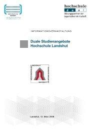 Duale Studiengänge an der Duale ... - Hochschule dual