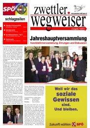 Jahreshauptversammlung - SPÖ Zwettl