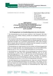 Stellungnahme Prof. Dr. Franz C. Mayer, LL.M - Deutscher Bundestag