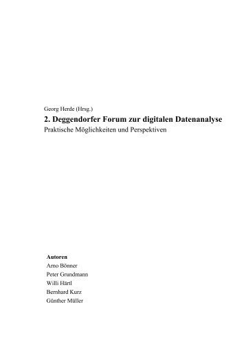 Leseprobe - Deggendorfer Forum zur digitalen[...]