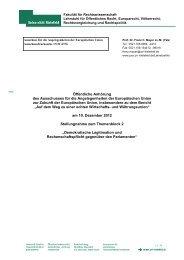 Stellungnahme von Prof. Dr. Franz C. Mayer, Universität - Deutscher ...