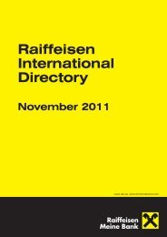 Raiff Directory November 2011:Raiff Directory June 2009 - Raiffeisen