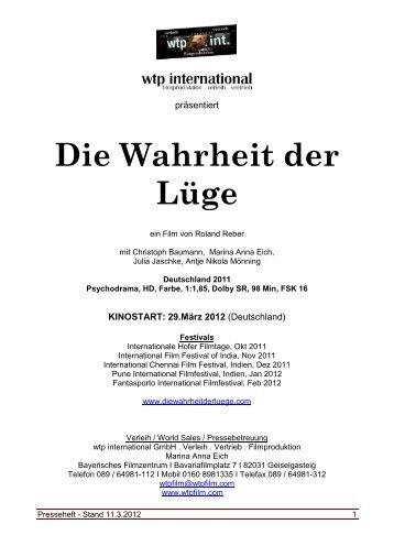 Presseheft (pdf) - Die Wahrheit der Lüge
