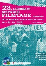 Programmheft als pdf - Lesbisch Schwule Filmtage Hamburg