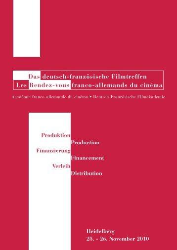 Das deutsch-französische Filmtreffen Les Rendez-vous franco ...