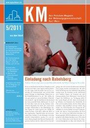 KM Magazin 5/2011 - Wohnungsgenossenschaft