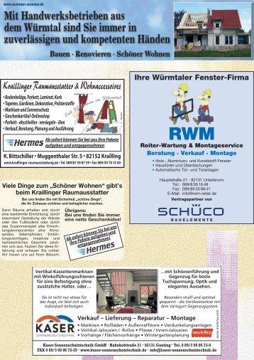 Handwerksbetriebe im Würmtal vom 19.09.2012 - Gautinger Anzeiger